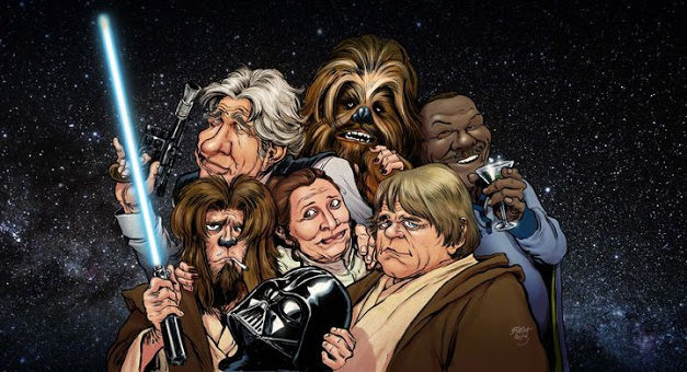-30 – Han, Chewie, Leia, Luke aka starocie