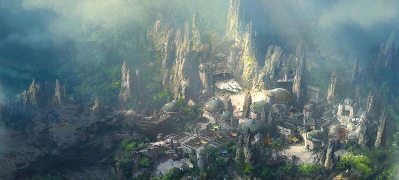 Nowa grafika koncepcyjna parku rozrywki Star Wars
