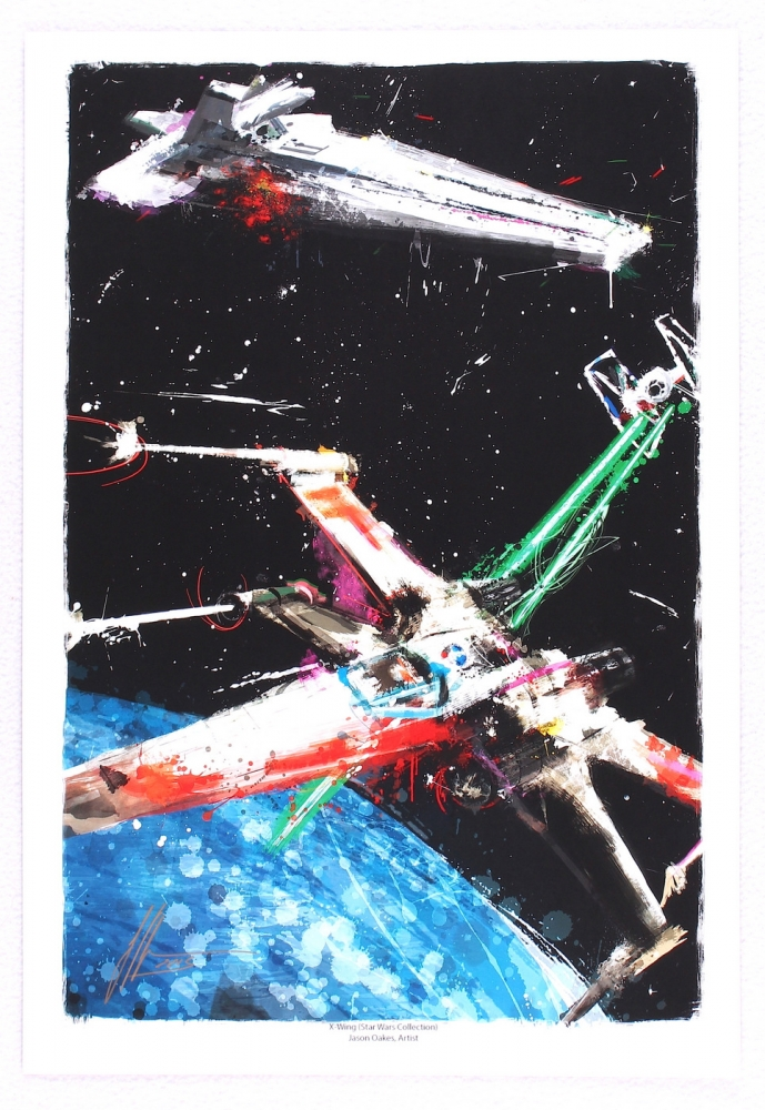 main_1-Jason-Oakes-Signed-13x19-X-Wing-Star-Wars-Lithograph-PA-COA-PristineAuction.com