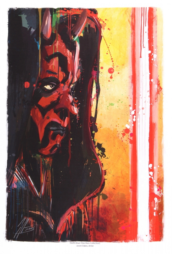 main_1-Jason-Oakes-Signed-Darth-Maul-Star-Wars-Limited-Edition-13-x-19-Lithograph-PA-COA-PristineAuction.com