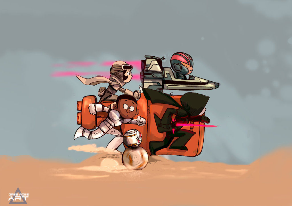 the_force_awakens_by_gaberoseart-d8rx787