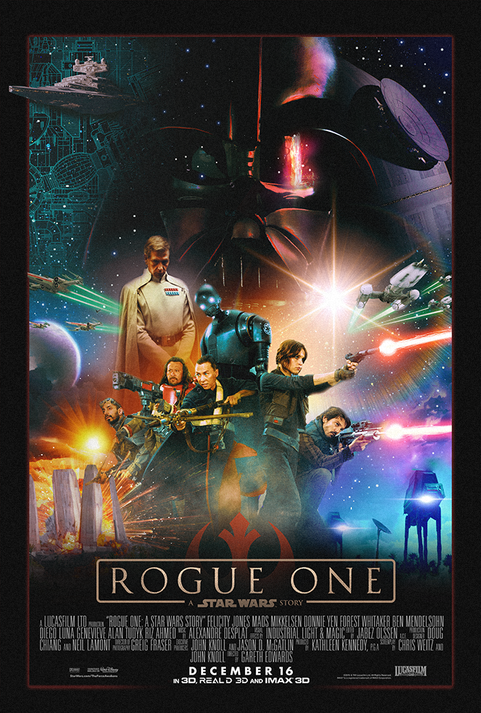 Star Wars Rogue One Fan Art Old School Style Movie Poster - ShelfPorn