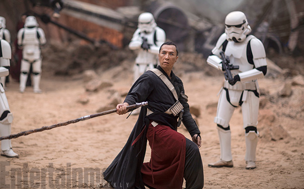 Rogue One: A Star Wars Story (2016) Chirrut Imwe (Donnie Yen) credit: Jonathan Olley/© Lucasfilm LFL 2016