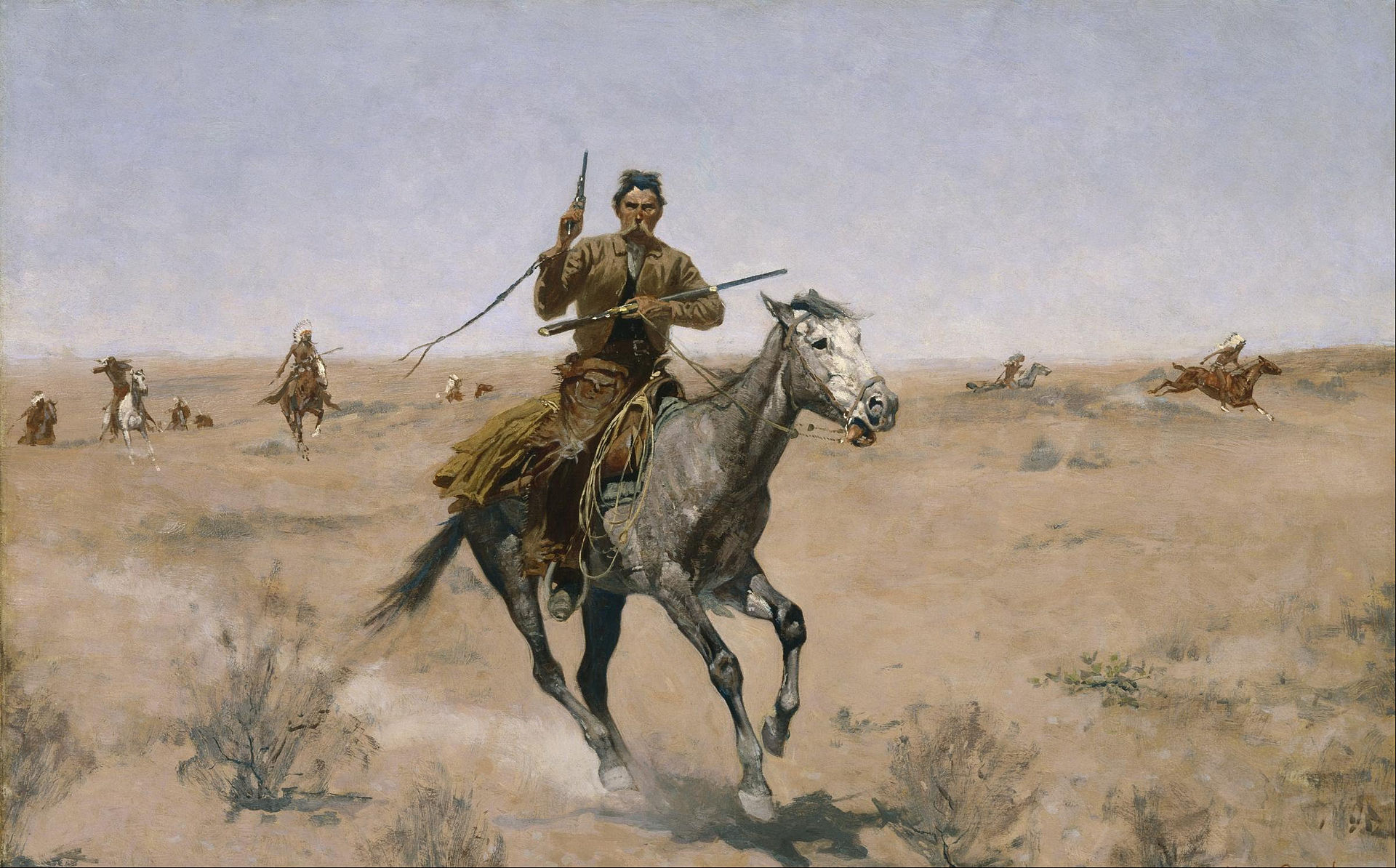 Jeden z obrazów Frederica Remingtona.