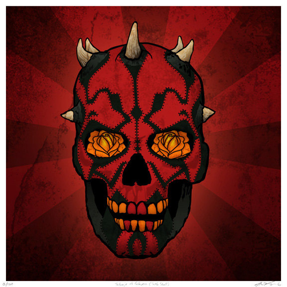 vamers-artistry-beautiful-day-of-the-dead-styled-star-wars-posters-by-john-karpinsky-darth-maul
