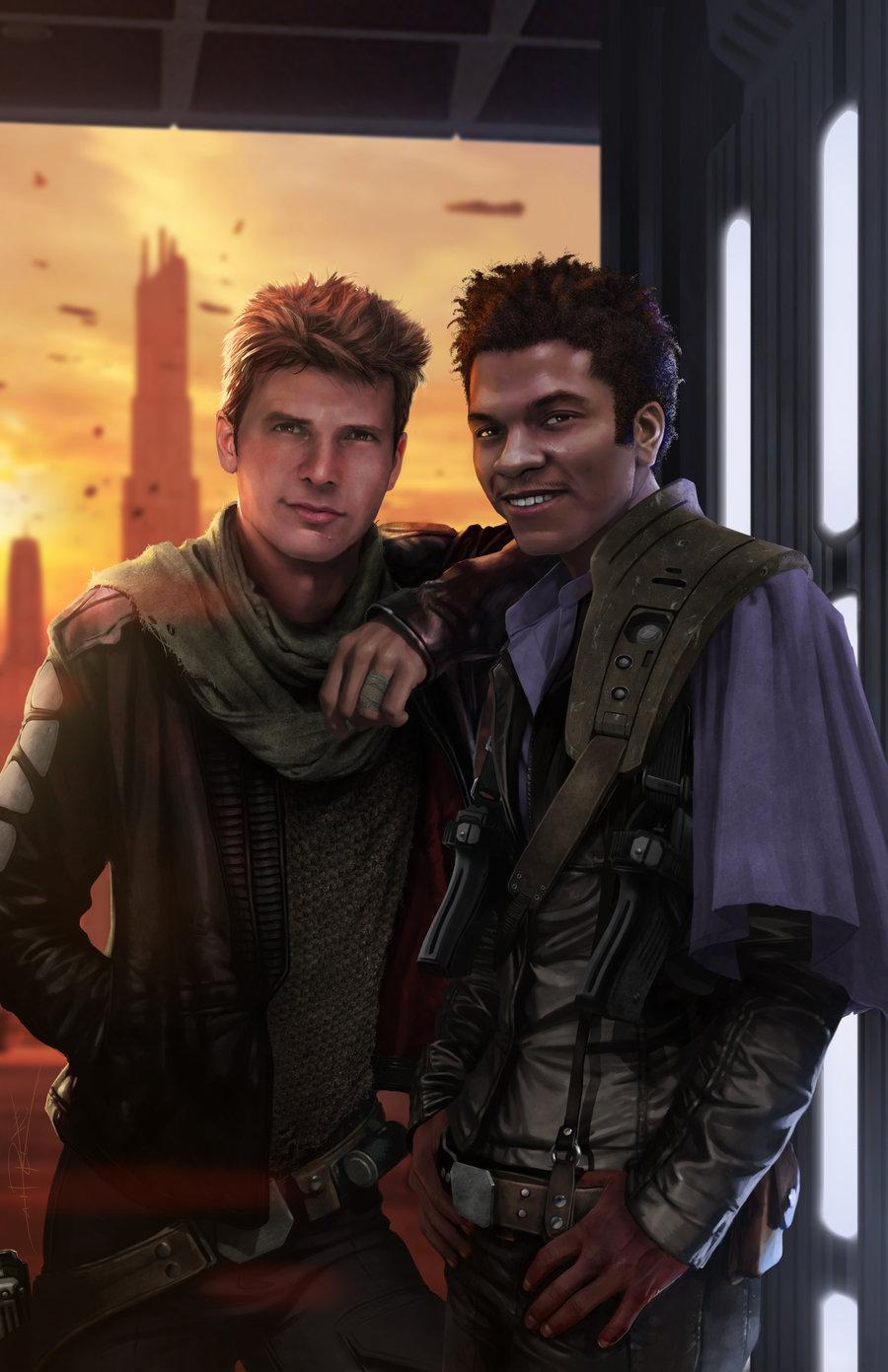 młody Lando młody Han