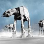 Pełnowymiarowe AT-AT w Parku Star Wars