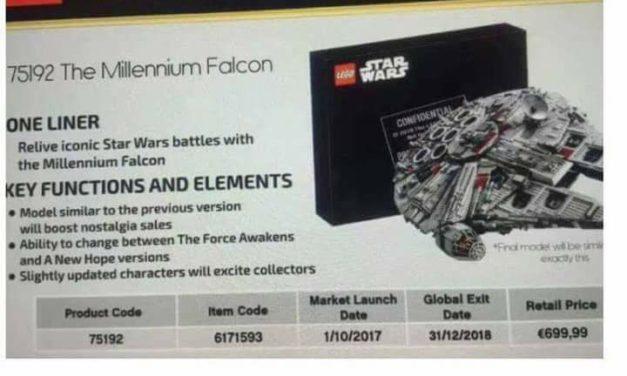 Nowy Sokół Millennium Falcon z LEGO!!