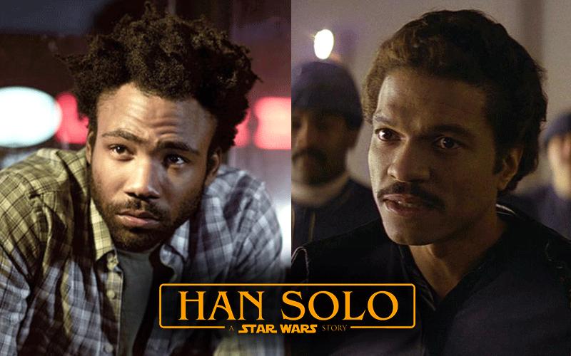Donald Glover jako Lando na planie filmu o młodym Solo
