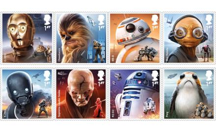 Gwiezdne znaczki pocztowe
