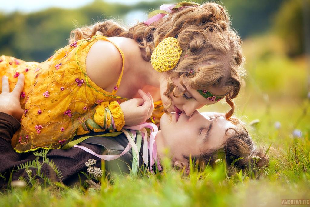 Pocałunek Padme i Anakina