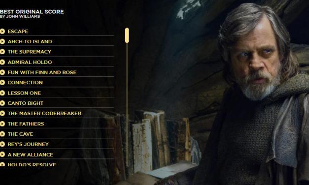 """Soundtrack z """"Ostatniego Jedi"""" dostępny na stronie Disney'a"""